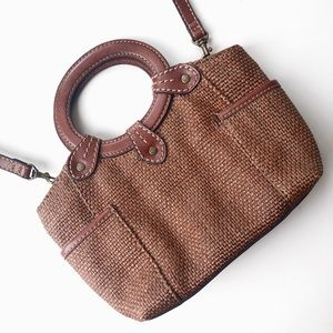 Fossil | Rattan Woven + Leather Crossbody